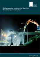 Construction dust guidance cover